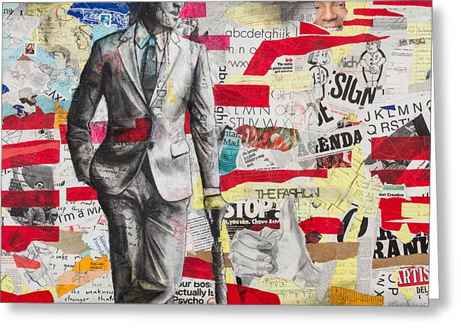 Confidence Mixed Media Greeting Cards - Ad Man Genesis Greeting Card by Giorgio Russo