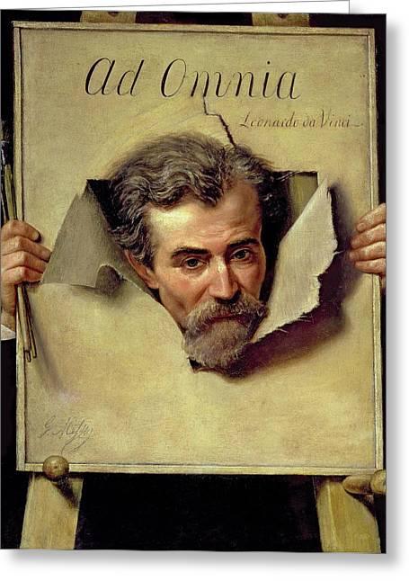 Ad Omnia Leonardo Da Vinci, Thought Greeting Card by Georges Melies