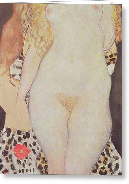 Adam And Eve, 1917-18 Greeting Card by Gustav Klimt