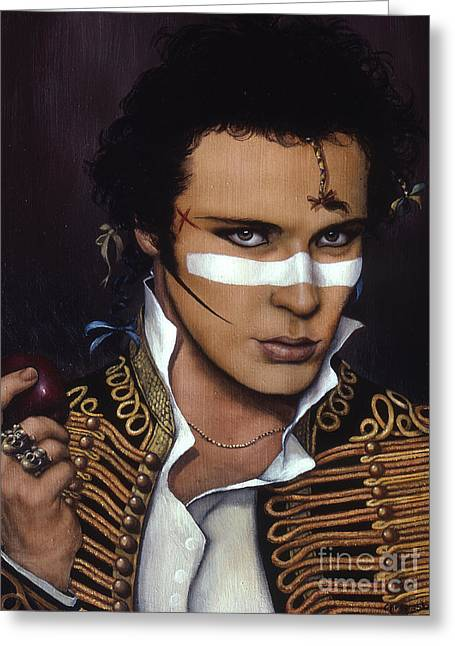 Gold Necklace Greeting Cards - Adam Ant Greeting Card by Jane Whiting Chrzanoska