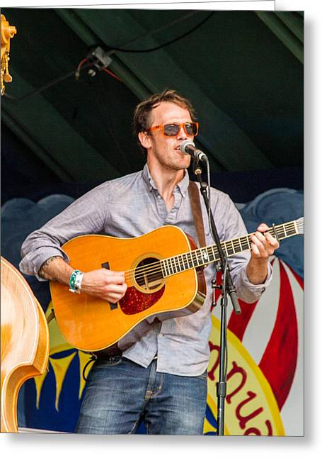 Blissfest Greeting Cards - Adam Balcer of Fauxgrass Greeting Card by Bill Gallagher