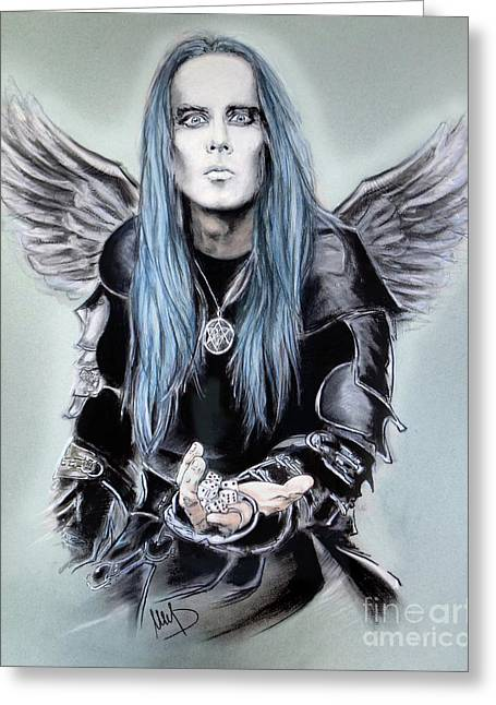 Adam Pastels Greeting Cards - Adam Darski Greeting Card by Melanie D