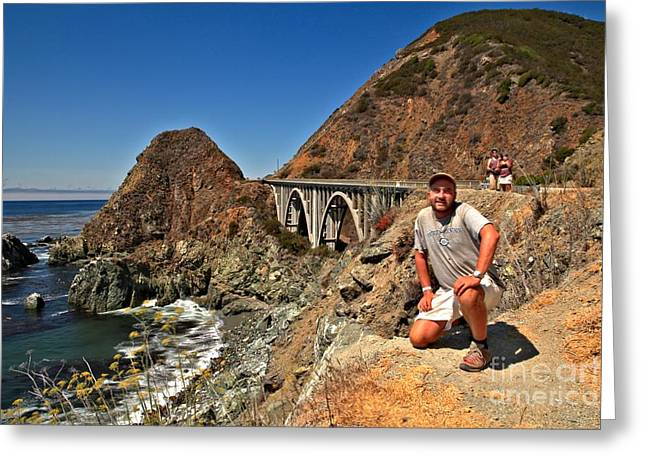 Big Sur California Greeting Cards - Adam Jewell At Big Sur Greeting Card by Adam Jewell
