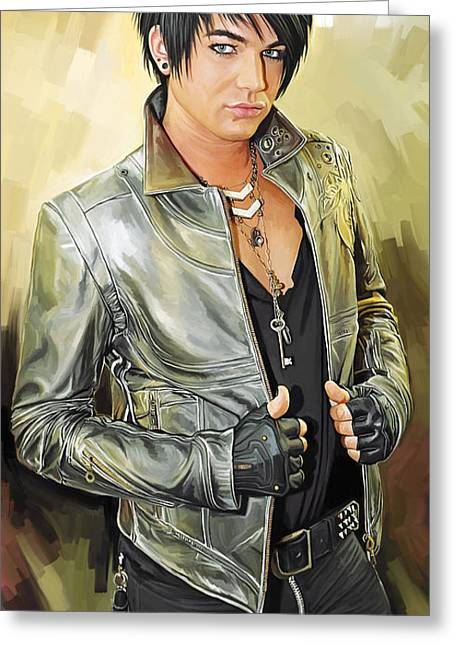 Adam Lambert Greeting Cards - Adam Lambert Artwork 1 Greeting Card by Sheraz A