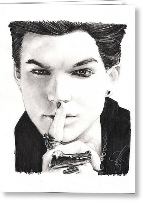 Adam Lambert Greeting Cards - Adam Lambert Greeting Card by Rosalinda Markle
