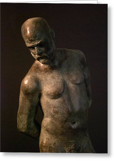 Print Sculptures Greeting Cards - Adam Greeting Card by Mary Buckman