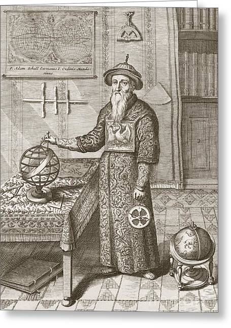 Beijing Map Greeting Cards - Adam Schall, German Jesuit Astronomer Greeting Card by Science, Industry And Business Library