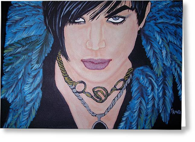 Adam Lambert Greeting Cards - Adam Greeting Card by Tammy Rekito