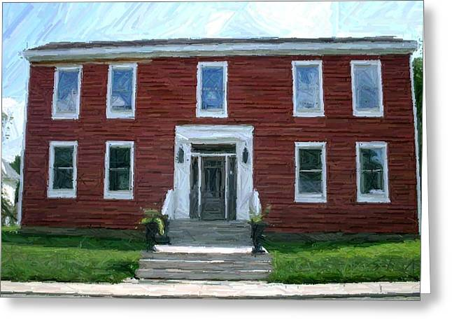 150th Commemoration Digital Art Greeting Cards - Addison Parks House - Perryville KY Greeting Card by Thia Stover