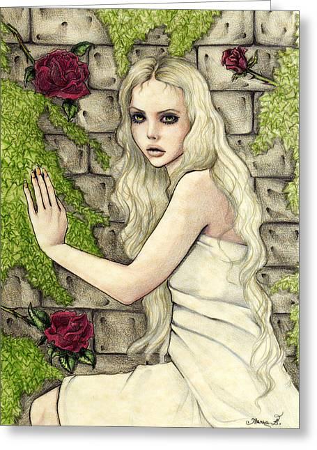 Princess Pastels Greeting Cards - Adel Greeting Card by Maena Bartolomei