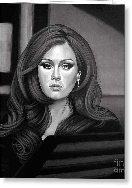 Myspace Greeting Cards - Adele Greeting Card by Meijering Manupix