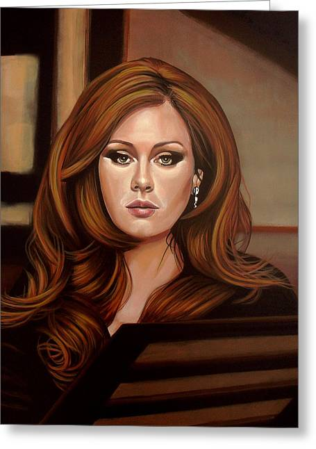 Adele Greeting Card by Paul Meijering