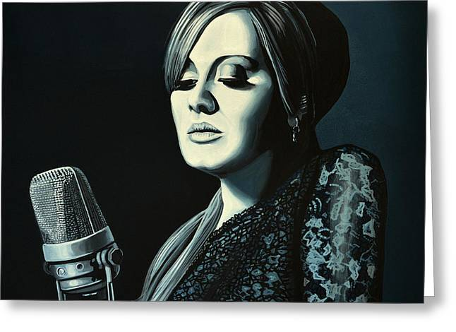 Adele Paintings Greeting Cards - Adele Skyfall Greeting Card by Paul Meijering