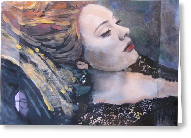 Adele Paintings Greeting Cards - Adele Skyfall Greeting Card by Vikram Singh