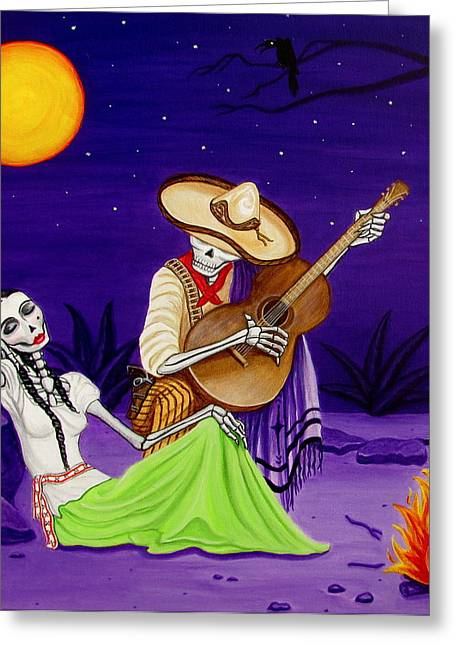 Mexican Revolution Greeting Cards - Adelita y Juan Greeting Card by Evangelina Portillo