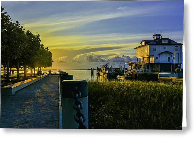 Nast Greeting Cards - Adgers Wharf Sunrise Greeting Card by Wendy Mogul