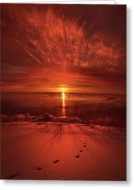 Foot-print Greeting Cards - Adieu Greeting Card by Phil Koch