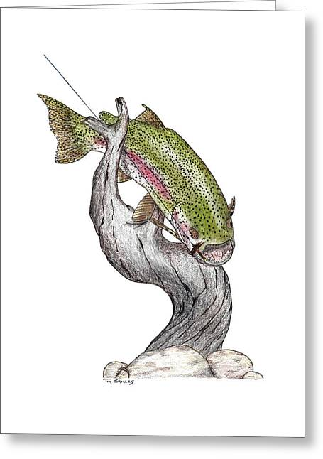 Flyfishing Pastels Greeting Cards - Adios Greeting Card by Tim Shoales