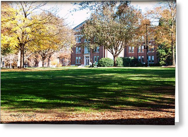 Corporate Elites Greeting Cards - Adirondack Chairs 6 - Davidson College Greeting Card by Paulette B Wright