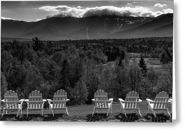 Mt Greeting Cards - Adirondack Chairs Greeting Card by Joseph Smith