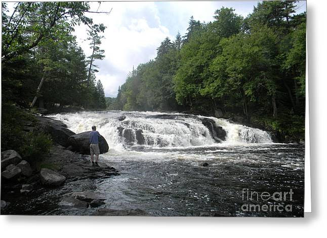 Heart Of Waterfalls Greeting Cards - Adirondack Falls Greeting Card by Jason  Horvath