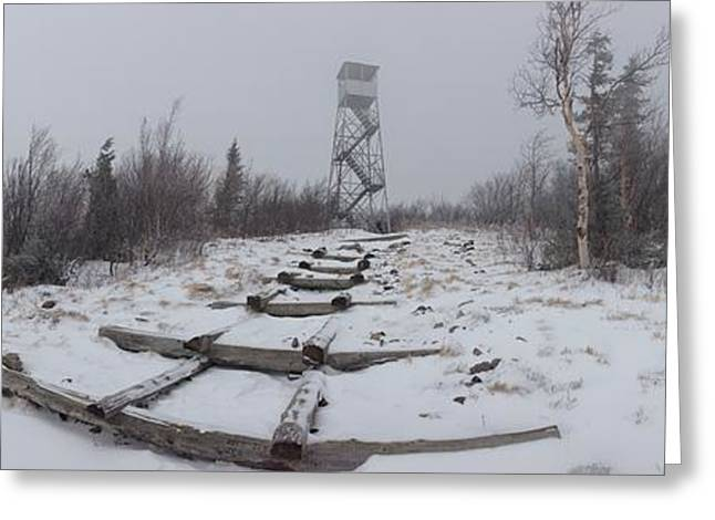 Adirondack Fire Tower 2 Greeting Card by Michael French