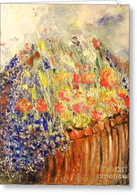 Laurie D Lundquist Paintings Greeting Cards - Adirondack Floral Greeting Card by Laurie D Lundquist