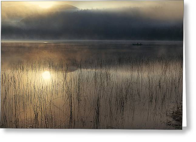 Adirondack Sunrise Greeting Card by Magda  Bognar