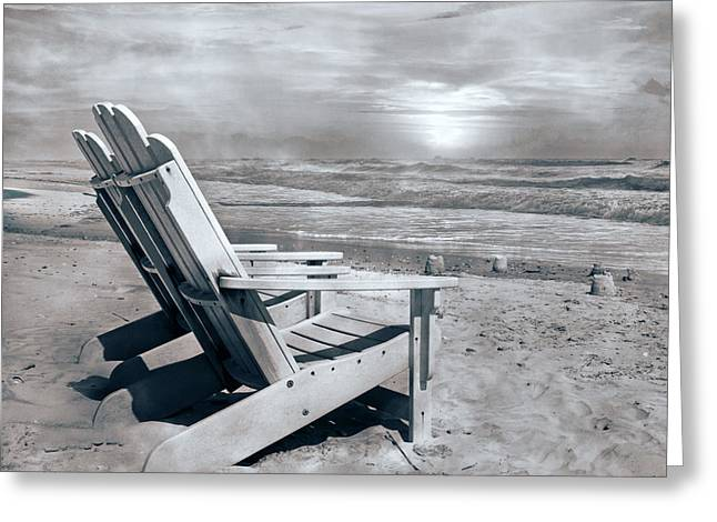 Adirondack Sunrise Topsail Island Greeting Card by Betsy C Knapp