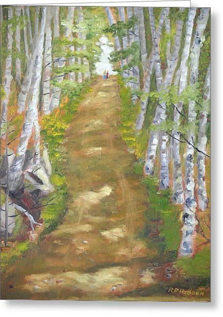 Carpenter Lake Greeting Cards - Adirondacks Lake Clear Carpenter Road Greeting Card by Robert P Hedden
