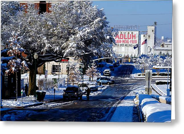Snow On The Ground Greeting Cards - Adluh Flour Snow Greeting Card by Joseph C Hinson Photography