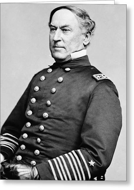 Admiral Greeting Cards - Admiral David Farragut Greeting Card by War Is Hell Store