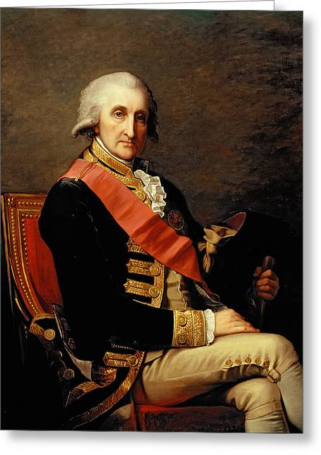 Admiral George Brydges Rodney Greeting Card by Jean Laurent Mosnier