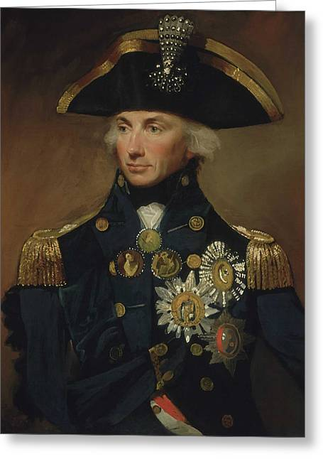 Naval History Greeting Cards - Admiral Horatio Nelson Greeting Card by War Is Hell Store