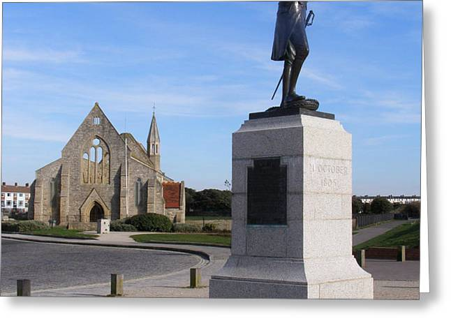 Admiral Lord Nelson and Royal Garrison Church Greeting Card by Terri  Waters