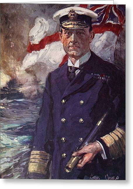 Wwi Paintings Greeting Cards - Admiral Sir John Jellicoe Greeting Card by Cyrus Cuneo