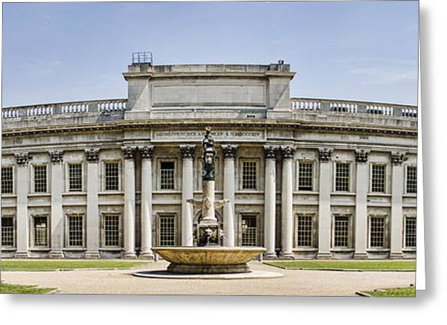 Royal Naval College Greeting Cards - Admirals House Greeting Card by Heather Applegate