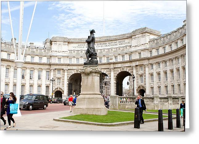 Trafalgar Greeting Cards - Admiralty Arch Greeting Card by Fizzy Image