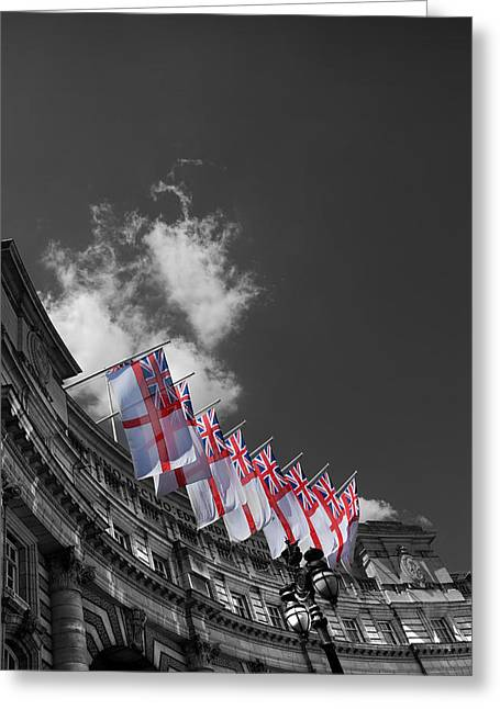 St George Greeting Cards - Admiralty Arch London Greeting Card by Mark Rogan