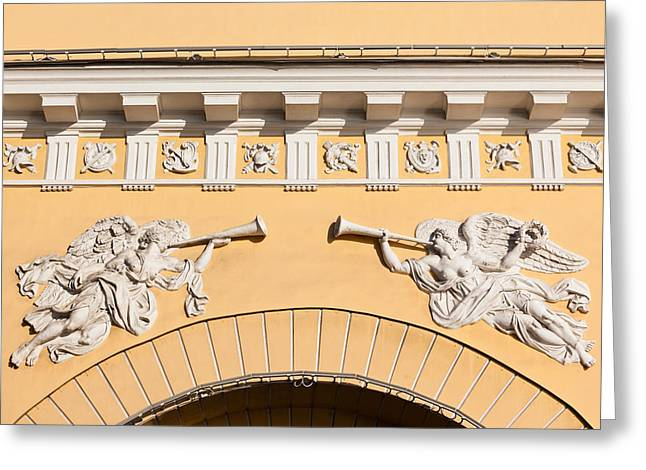 Bas-relief Greeting Cards - Admiralty Building Detail, St Greeting Card by Panoramic Images