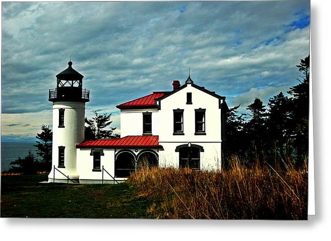 Fort Casey Greeting Cards - Admiralty Head Lighthouse Greeting Card by Kevin D Davis