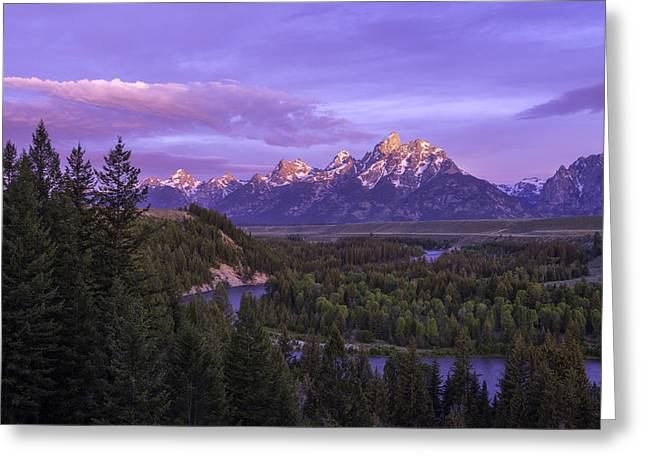 Tetons Greeting Cards - Admiration Greeting Card by Chad Dutson