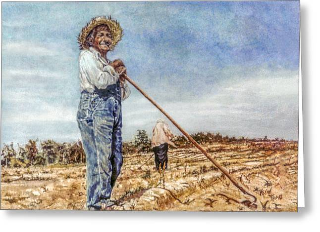 St Petersburg Florida Paintings Greeting Cards - Admiring the field Greeting Card by Kevin Thomas