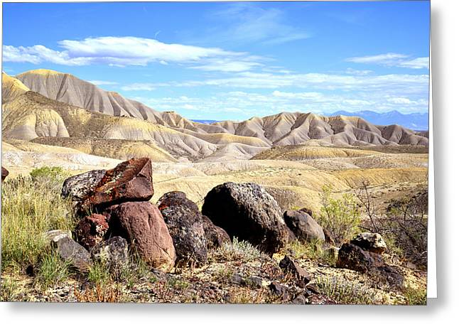 Adobe Greeting Cards - Adobe Badlands I Greeting Card by Ray Mathis