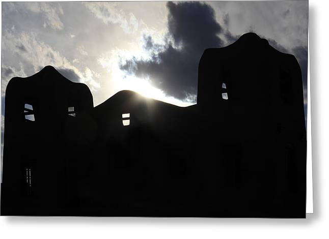 Adobe in the Sun Greeting Card by Mike McGlothlen