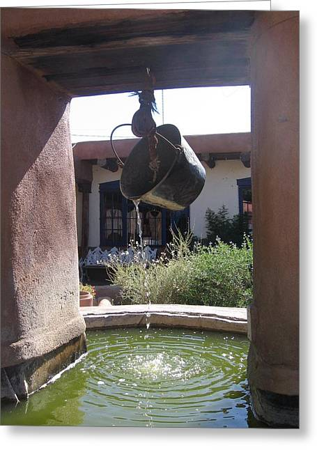 Adobe Wells Greeting Cards - Adobe Water Well in New Mexico Greeting Card by  Photographic Art and Design by Dora Sofia Caputo
