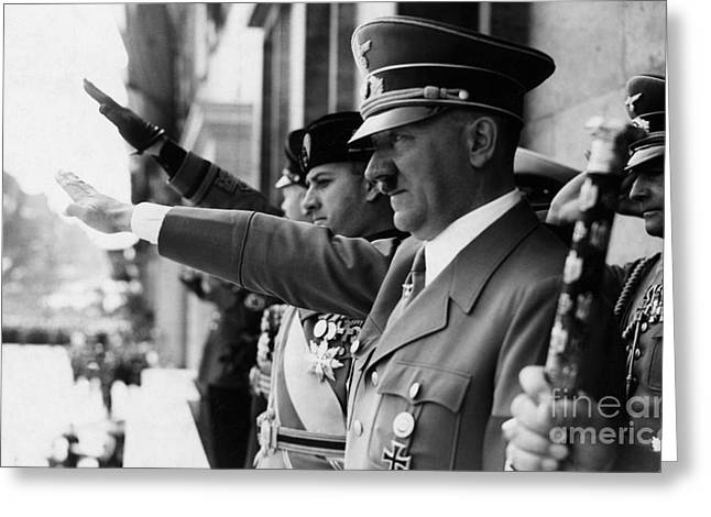 Adolf Greeting Cards - Adolf Hitler Greeting Card by Celestial Images