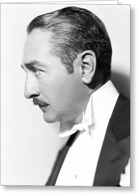 Adolphe Greeting Cards - Adolphe Menjou Greeting Card by Silver Screen