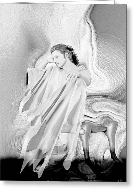 Graphite Digital Art Greeting Cards - Adonis Number 07 Greeting Card by Joaquin Abella