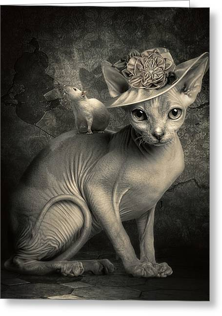 Adopted Greeting Card by Cindy Grundsten